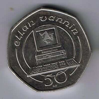1990 Isle of Man 50p Fifty Pence coin
