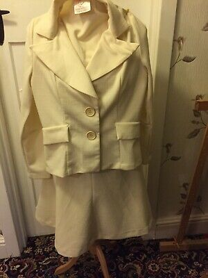 vintage Richard Roberts ladies skirt suit Size14 1960/1970s