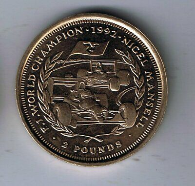 1993 Isle of Man Two Pounds £2 coin : Nigel Mansell F1 World Champion