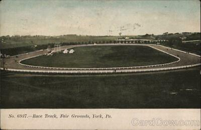 1908 York,PA Race Track,Fair Grounds Antique Postcard Pennsylvania 1c stamp