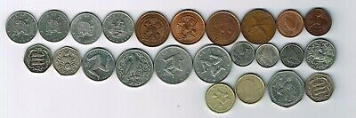24 different coins from Isle of Man : 1975 - 2014