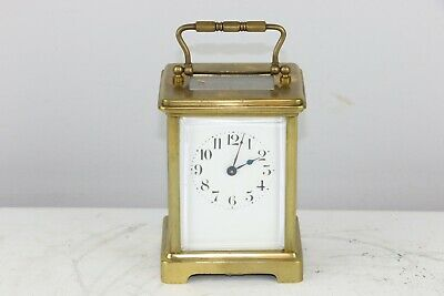 Antique French Duverdrey & Bloquel Brass Key Wind Carriage Clock - Excellent