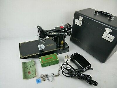 Antique Singer 221K Featherweight  Sewing Machine 10 December 1954