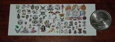 1//6 Scale Custom Tattoos Military Black and White pack Waterslide Decals