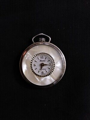 Vintage Lucerne Ladies Goldtone Pendant Watch Windup Mechanical WORKS/RUNS