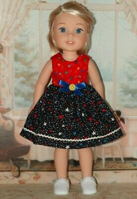 """Handmade Dress fits 14.5"""" Wellie Wishers Doll from American Girl Doll Clothes"""