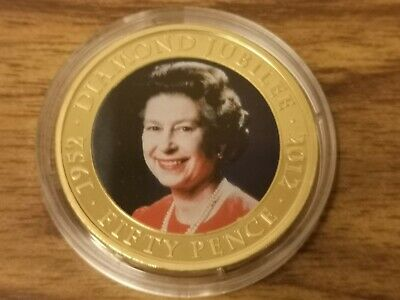 2012 Jersey 50p Fifty pence coin - Diamond Jubilee