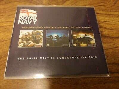 2003 Jersey £5 Five pounds coin : Royal Navy