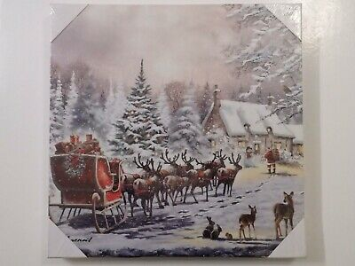 """Christmas Led Light-up """"Magic of Christmas"""" Canvas Picture by Leonardo"""