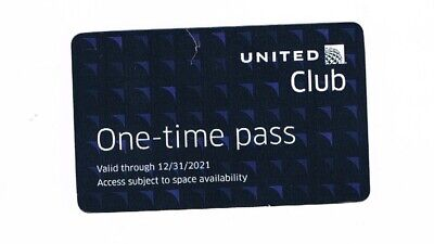 2 United Club Passes, issued by United, with Long Expiration Date of 12/31/2021!