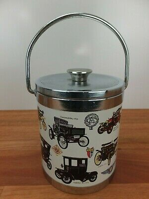 Vintage Automobile Themed Ice Bucket