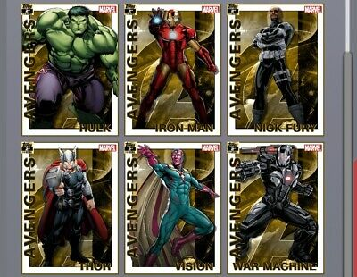 Marvel Collect By Topps Digital Avengers 2nd Printing Set Award Ready