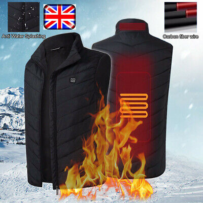 Electric Vest Heated Cloth Jacket USB Warm Up Heating Pad Body Winter Warmer ZF6