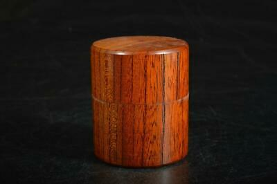 A1382: Japanese Wooden TEA CADDY Natsume Chaire Container Tea Ceremony