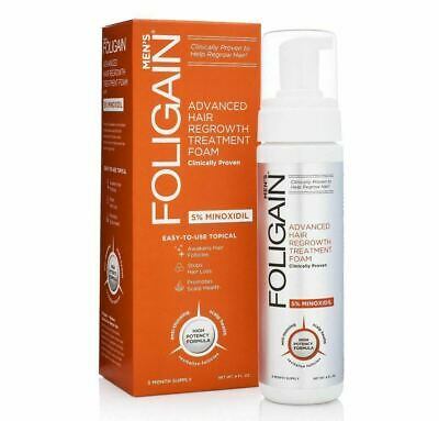 Foligain Minox 5% Hair Regrowth Foam For Men (177ml) 3 Month Supply