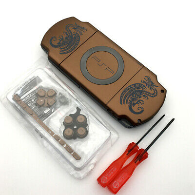 Brown Monster Hunter Limited Edition Housing Shell Case Cover for Sony PSP 2000