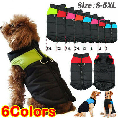 Waterproof Autumn Winter Pet Dog Clothes Padded Warm Coat Vest Jacket Apparel