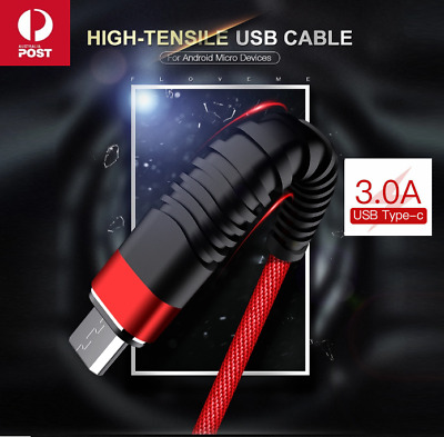 Fast Speed Charging USB Type C Data Charger Cable For Samsung Huawei Android 1m