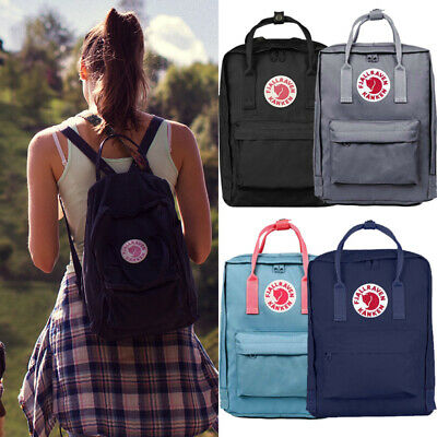 16L Unisex Fjallraven Kanken Backpack School Waterproof Handbag Sport Travel Bag