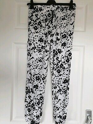 Excellent Condition Tu Black And White Print Trousers Age 10 Years