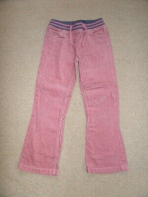 WORN ONCE! Girl's MINI BODEN Cords Age 8 Dusky Pink Heart Shaped Knee Patch