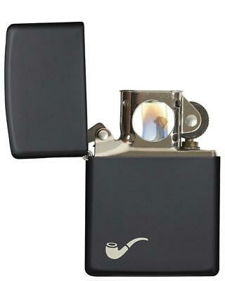 Zippo 218PL, Black Matte Pipe Lighter, Full Size, ***Extra Flints & Wick***