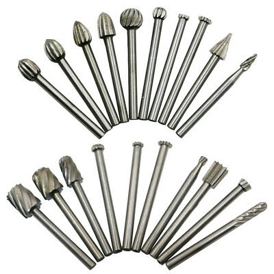 20pcs/Set HSS Carbide Burr Kit Rotary Drill Bits Die Grinder Carving Engraving