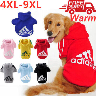 4XL-9XL Pet Dog Winter Coat Dog Warm Clothing Casual Cat Puppy Hoodie Sweater