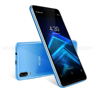 """Unlocked Android 8.1 Quad Core 5.5"""" Cell Phone 2 SIM AT&T Smartphone 5MP XGODY"""
