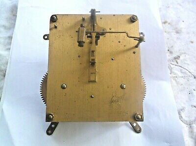 Mechanism  From An Old Perivale  Mantle Clock Working Order Ref Eb 11