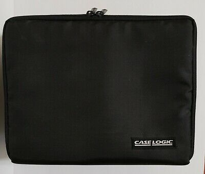 """Case Logic CD Carry Case With Strap / Black Nylon Fabric Holds 30 CD's 11.25"""" W"""
