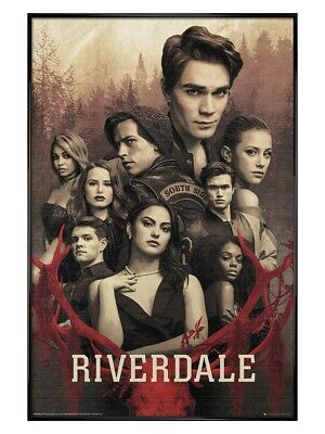 Riverdale Maxi Poster Gloss Black Framed Season 3 61 x 91.5cm