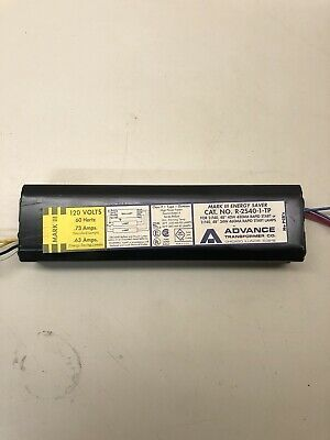 Advance Transformer 2-F90T17 Preheat Light Ballast for 2 Lamps 90//100W S-285-TP