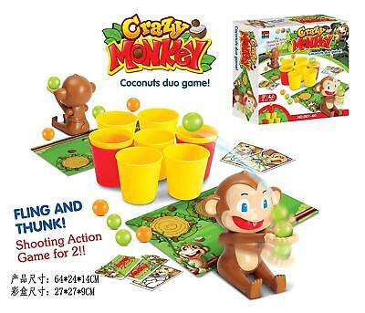 Coconuts Crazy Monkey Dexterity Game Multiplayer Family Fun Party Game Gift