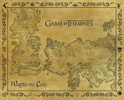 Game of Thrones Mini Poster Antique Map 40x50cm