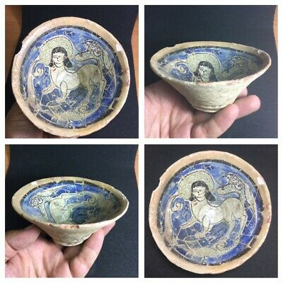 Rarely  Ancient Islamic timurid ceramic bowl