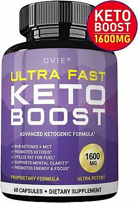 Ultra Fast Pure Keto Boost 1600mg -60 Capsules 30 Day with MCT Oil Keto