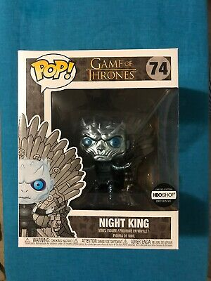 Funko Pop! Night King On Throne Metallic #74 Game of Thrones HBO Shop Exclusive