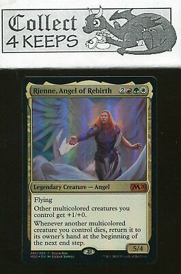 ANGEL OF REBIRTH Core Set 2020 MTG Gold Creature — Angel Mythic Foil RIENNE