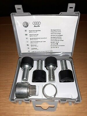 VW Audi VAG Wheel Locks Set Locking Nuts 5Q0698137