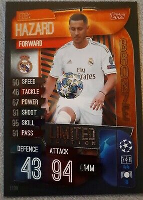 Match Attax 2019/20 Eden Hazard Bronze Limited Edition Le3B Mint