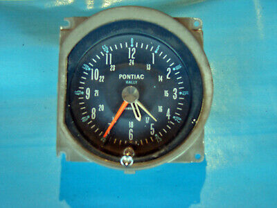 64-67 Pontiac GTO Lemans Tempest Rally Clock  1964 1965 1966 1967