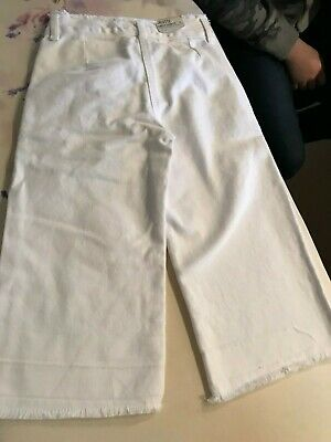 Next - Girls Ankle Length WHITE Culottes (5 years) Adjustable Waist NWT £13