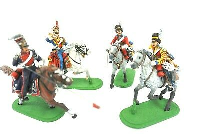 LOT OF 4 POLISH LANCERS TOY SOLDIERS - beautiful detail - great color