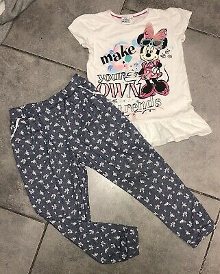 Disney...F&F Girls Outfit 5-6 Y Harem Trousers & Minnie Mouse Top