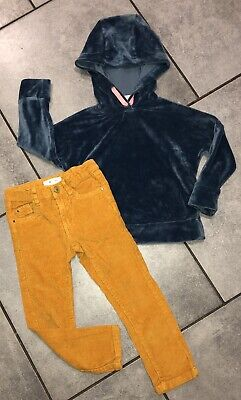 Matalan...La Redoute Girls turquoise/mustard Outfit 4-5 Y VGC