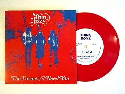 "Thin Lizzy The Farmer 7"" Single Red Vinyl Import Phil Lynott"