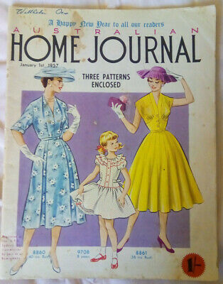 Vintage Australian Home Journal January 1957 Complete with Pattern