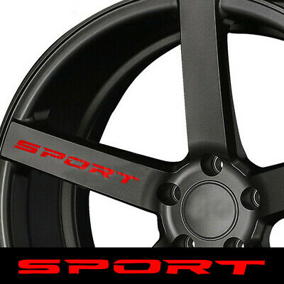 4x Creative Racing SPORT Truck Car Rims Wheel Reflective Decal Sticker Graphic
