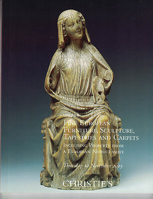 Christie's-Fine European Furniture, Sculpture, Tapestries & Carpets- Nov 10 2005